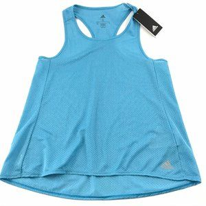 Adidas Small Women Tank Top Response Blue Running